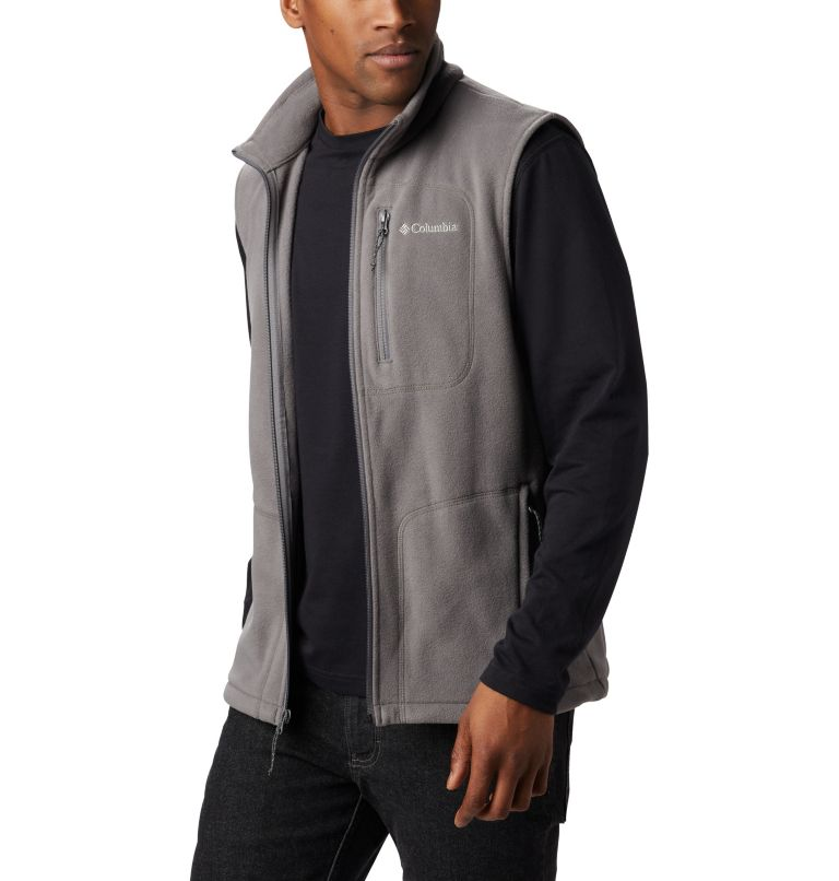 Fast Trek™ Fleece Vest | 023 | L Men's Fast Trek™ Fleece Vest, City Grey, a2