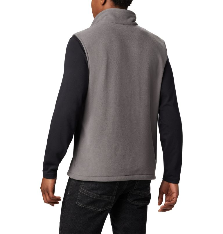 Fast Trek™ Fleece Vest | 023 | L Men's Fast Trek™ Fleece Vest, City Grey, back