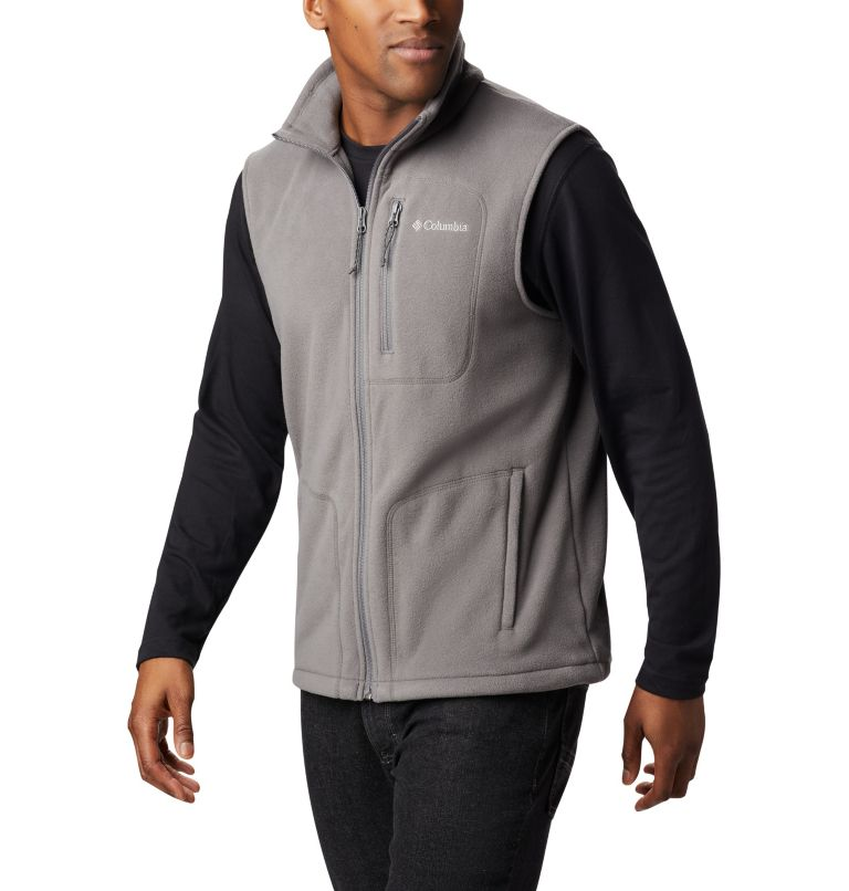 Fast Trek™ Fleece Vest | 023 | L Men's Fast Trek™ Fleece Vest, City Grey, front