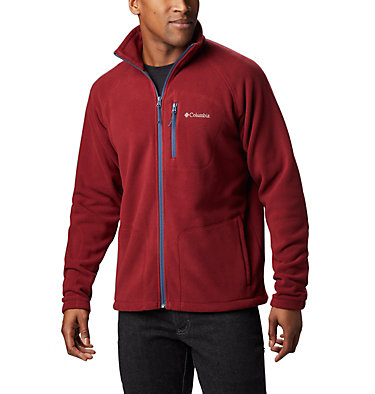 Men's Fast Trek™ II Fleece Jacket Fast Trek™ II Full Zip Fleece | 010 | XS, Red Jasper, Dark Mountain, front