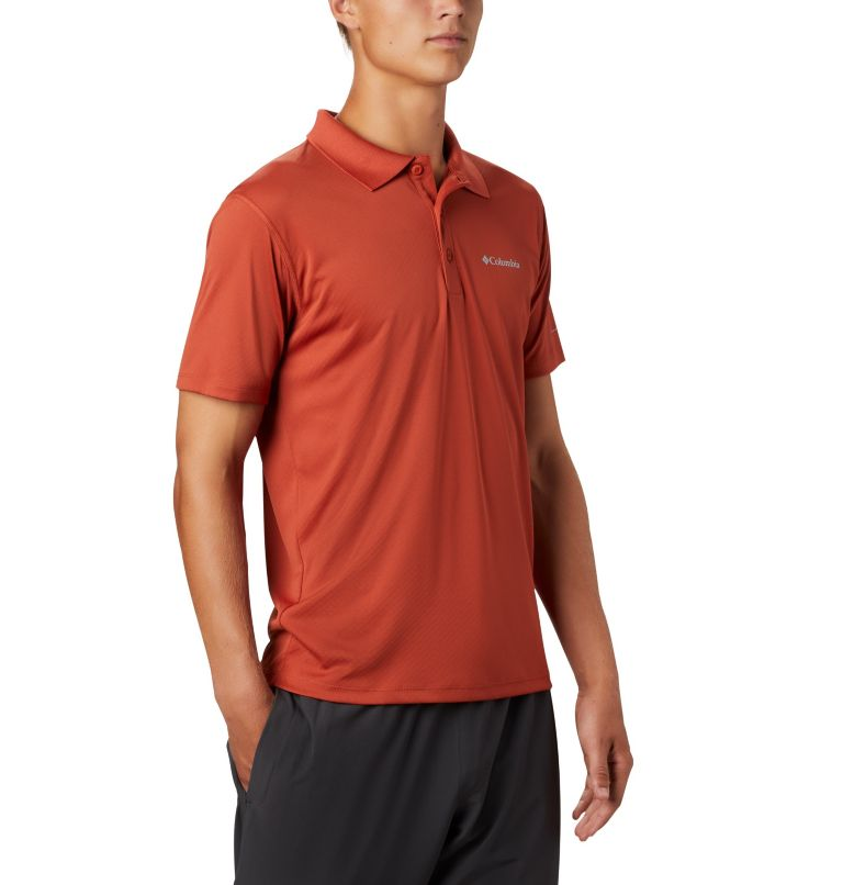 Zero Rules™ Polo Shirt | 835 | L Men's Zero Rules™ Polo, Carnelian Red, a3