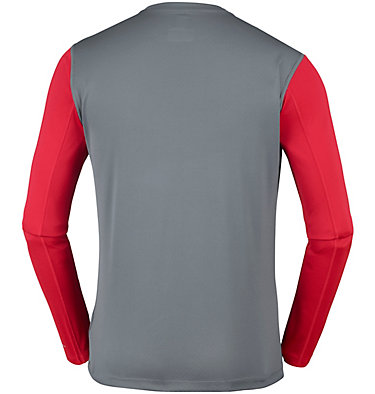 Men's ZERO Rules™ Long Sleeve Shirt Zero Rules™ Long Sleeve Shirt | 039 | L, Graphite, Mountain Red, back