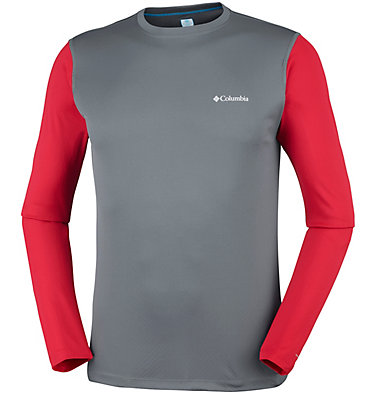 Men's ZERO Rules™ Long Sleeve Shirt Zero Rules™ Long Sleeve Shirt | 039 | L, Graphite, Mountain Red, front