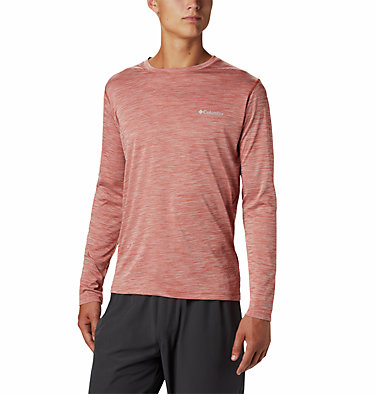 Men's ZERO Rules™ Long Sleeve Shirt Zero Rules™ Long Sleeve Shirt | 039 | L, Carnelian Red Heather, front