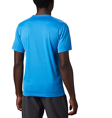 Men's PFG Zero Rules™ T-Shirt Zero Rules™ Short Sleeve Graph | 040 | XXL, Azure Blue CSC Topo Lines, back