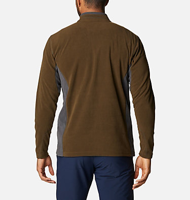 Men's Klamath Range™ II Half Zip Fleece Pullover Klamath Range™ II Half Zip | 449 | S, Olive Green, Shark, back