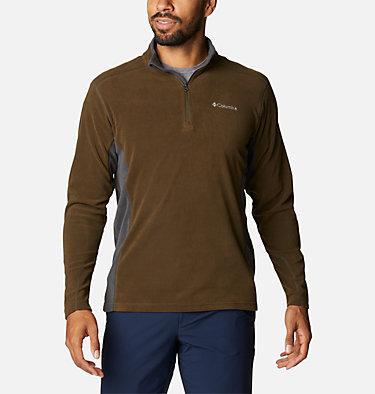 Men's Klamath Range™ II Half Zip Fleece Pullover Klamath Range™ II Half Zip | 449 | S, Olive Green, Shark, front