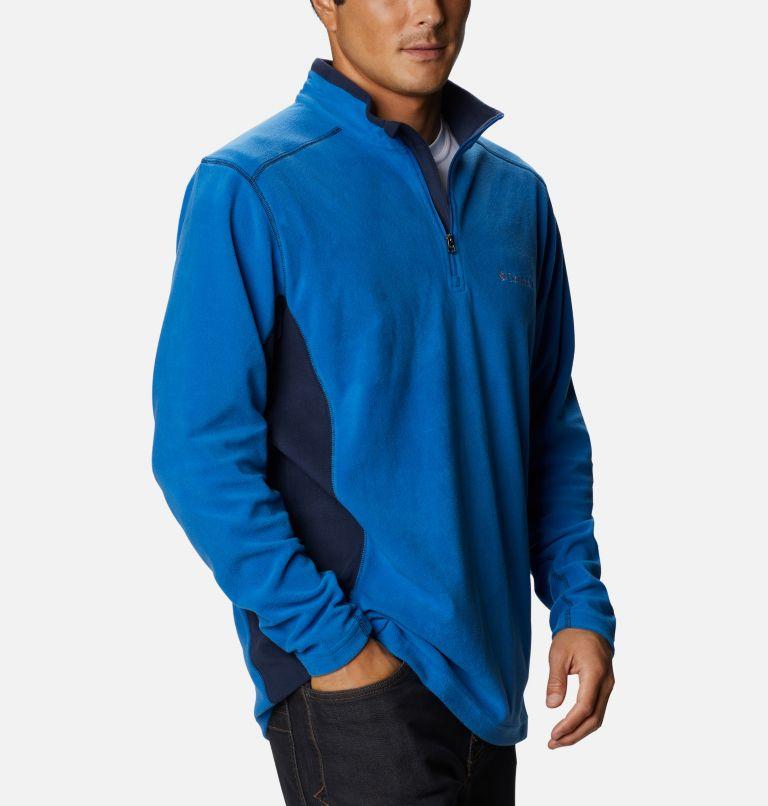 Klamath Range™ II Half Zip | 435 | S Men's Klamath Range™ II Half Zip Fleece Pullover, Bright Indigo, Collegiate Navy, a3
