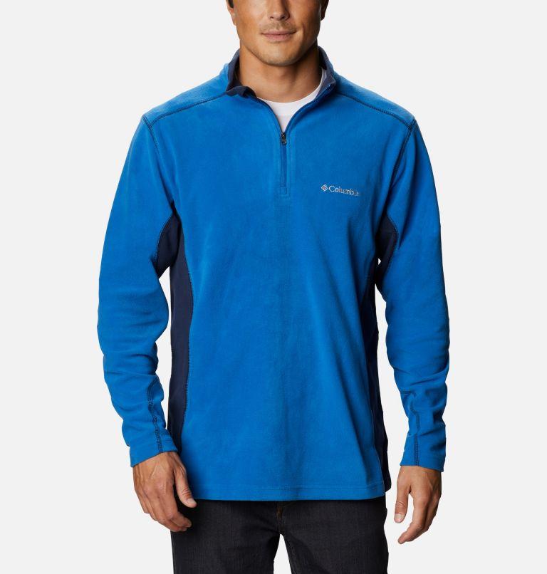 Klamath Range™ II Half Zip | 435 | S Men's Klamath Range™ II Half Zip Fleece Pullover, Bright Indigo, Collegiate Navy, front
