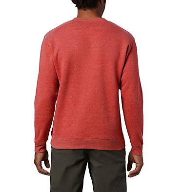 Men's Hart Mountain™ II Crew Fleece Sweatshirt Hart Mountain™ II Crew | 397 | L, Red Jasper Heather, back