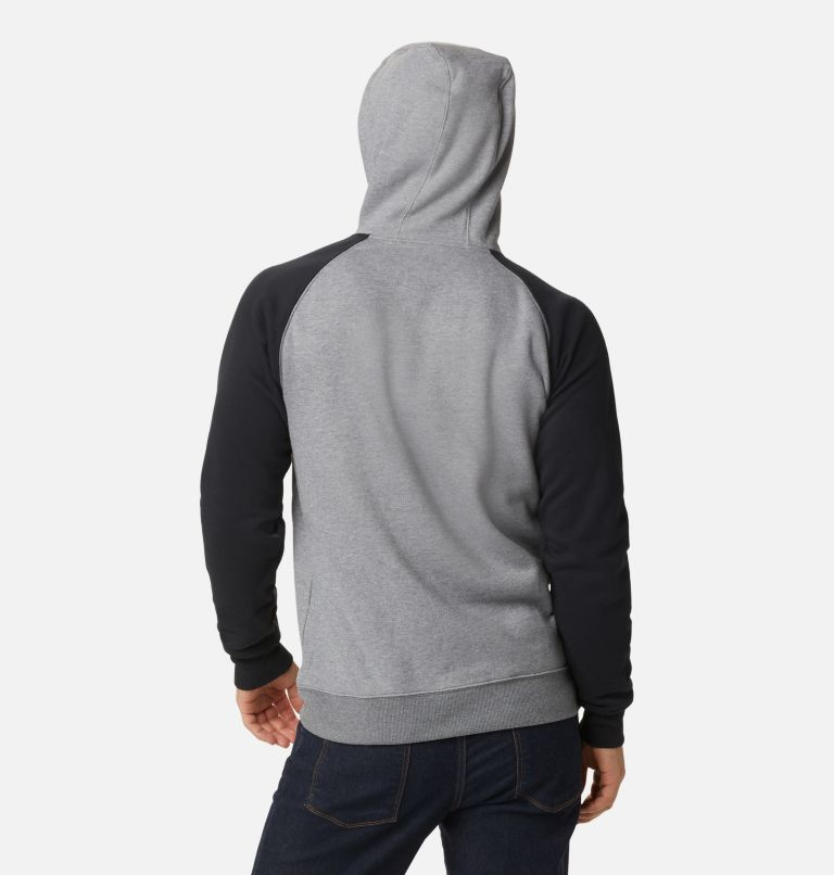 Hart Mountain™ II Hoodie | 035 | L Men's Hart Mountain™ II Fleece Hoodie, Charcoal Heather, Black, back