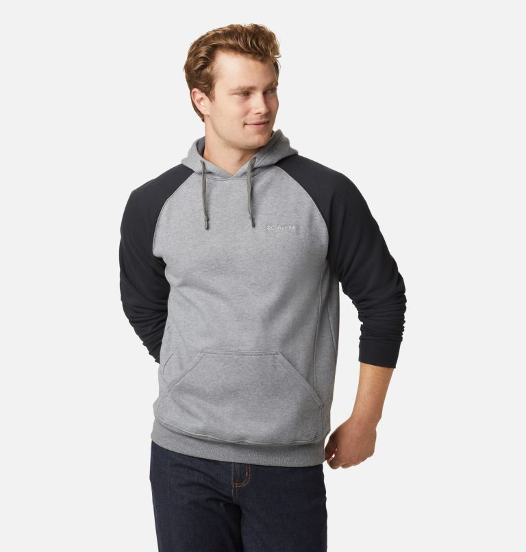Hart Mountain™ II Hoodie | 035 | L Men's Hart Mountain™ II Fleece Hoodie, Charcoal Heather, Black, front