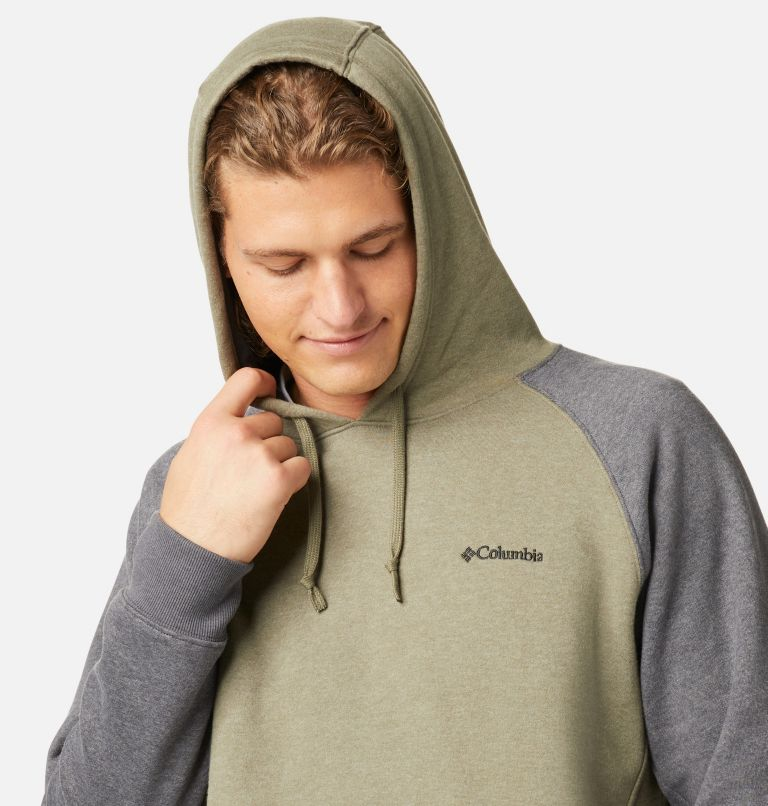 Hart Mountain™ II Hoodie | 397 | S Men's Hart Mountain™ II Fleece Hoodie, Stone Green Heather, Shark Heather, a2