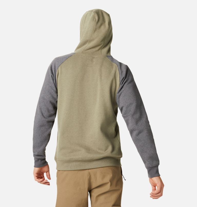 Hart Mountain™ II Hoodie | 397 | S Men's Hart Mountain™ II Fleece Hoodie, Stone Green Heather, Shark Heather, back