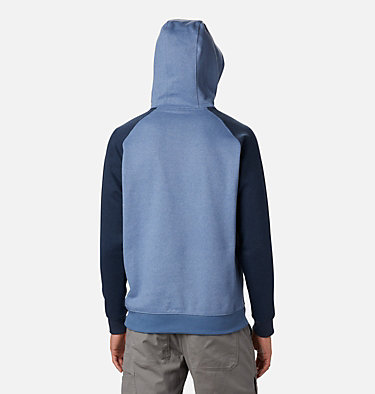 Men's Hart Mountain™ II Fleece Hoodie Hart Mountain™ II Hoodie | 012 | XL, Bluestone Heather, Collegiate Navy Hthr, back