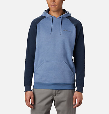 Men's Hart Mountain™ II Fleece Hoodie Hart Mountain™ II Hoodie | 012 | XL, Bluestone Heather, Collegiate Navy Hthr, front