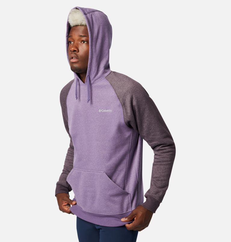 Hart Mountain™ II Hoodie | 555 | L Men's Hart Mountain™ II Fleece Hoodie, Soft Purple, Dark Purple Heather, a3