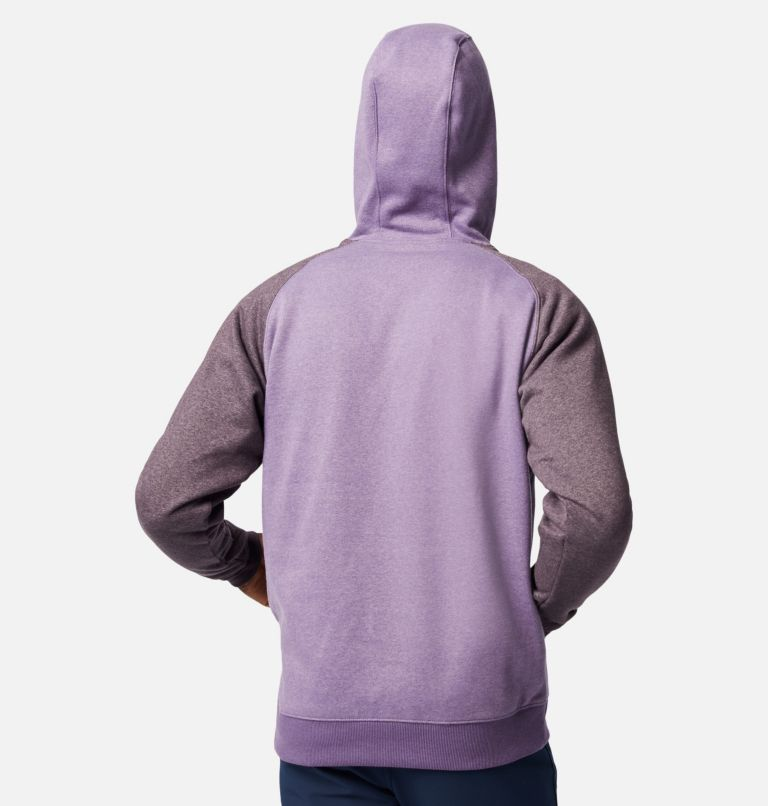 Hart Mountain™ II Hoodie | 555 | L Men's Hart Mountain™ II Fleece Hoodie, Soft Purple, Dark Purple Heather, back