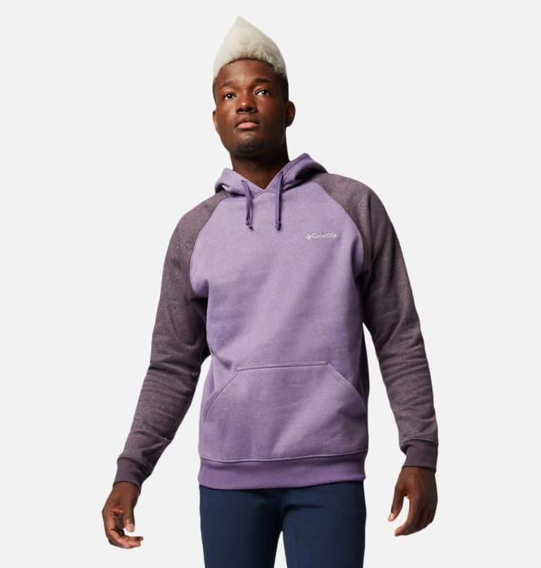 Hart Mountain™ II Hoodie | 555 | L Men's Hart Mountain™ II Fleece Hoodie, Soft Purple, Dark Purple Heather, front