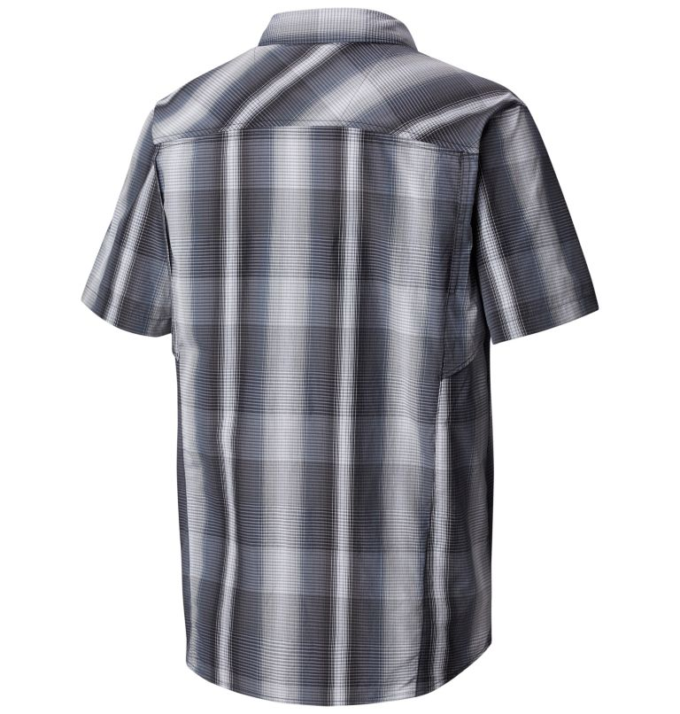 Silver Ridge™ Multi Plaid S/S  | 010 | XS Chemise manches courtes à carreaux multiplesSilver Ridge™ Homme, Black Multi Plaid, back