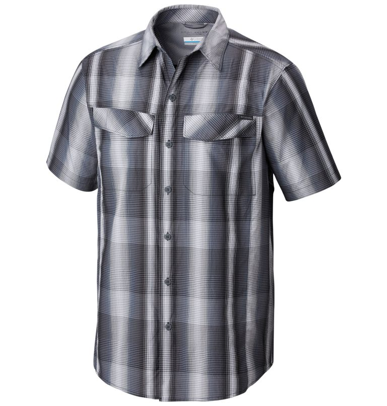 Silver Ridge™ Multi Plaid S/S  | 010 | XS Chemise manches courtes à carreaux multiplesSilver Ridge™ Homme, Black Multi Plaid, front
