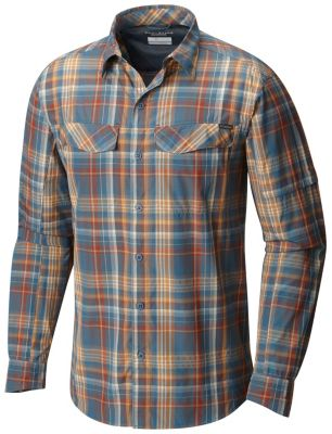 Columbia Silver Ridge Plaid Big /& Tall Long Sleeve Shirt