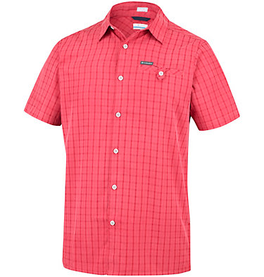 Men's Declination Trail™ II Short Sleeve Shirt Declination Trail™ II Short Sleeve Shirt | 012 | S, Mountain Red Mini Plaid, front