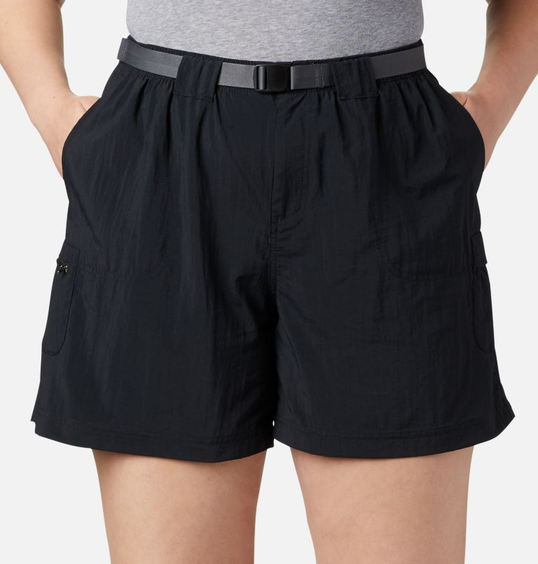 Sandy River™ Cargo Short | 010 | 2X Women's Sandy River™ Cargo Shorts - Plus Size, Black, a1