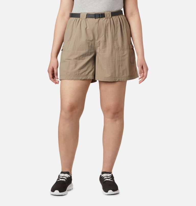 Sandy River™ Cargo Short   221   3X Women's Sandy River™ Cargo Shorts - Plus Size, Tusk, front