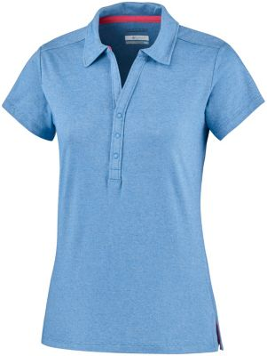 Columbia Womens Shadow Time Polo Shirt S Blue Dusk