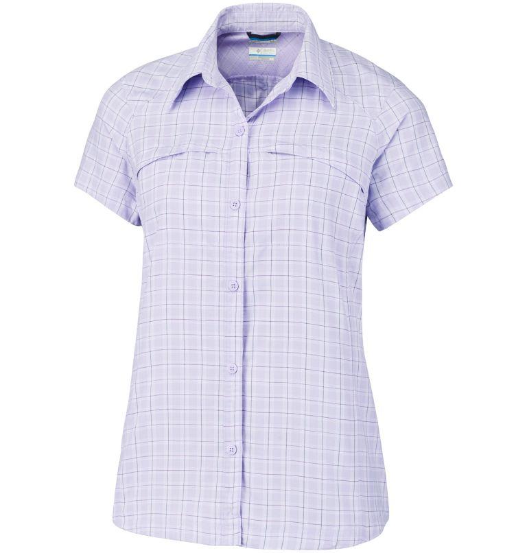W Silver Ridge Multi Plaid SS | 505 | 2X Chemise Manches Courtes Tissu Écossais Silver Ridge™ Femme–Grande Taille, Soft Violet Rip Stop Plaid, front
