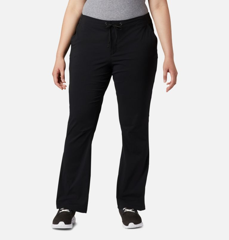 Anytime Outdoor™ Boot Cut Pant | 010 | 16W Women's Anytime Outdoor™ Boot Cut Pants - Plus Size, Black, front