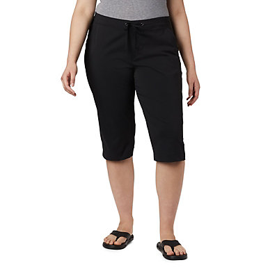 Women's Anytime Outdoor™ Capri - Plus Sizes Anytime Outdoor™ Capri | 249 | 18W, Black, front