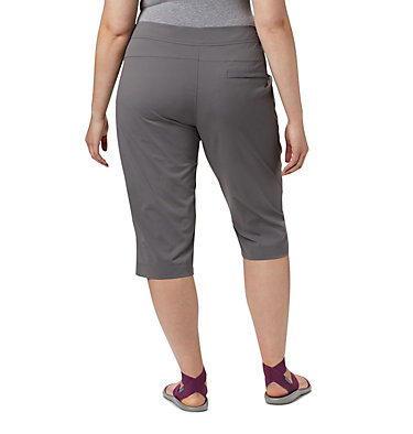 Women's Anytime Outdoor™ Capri - Plus Sizes Anytime Outdoor™ Capri | 249 | 18W, City Grey, back