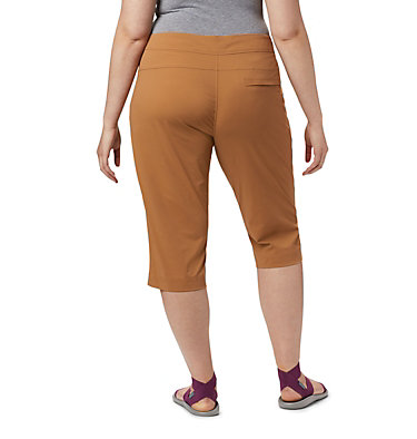 Women's Anytime Outdoor™ Capri - Plus Sizes Anytime Outdoor™ Capri | 249 | 18W, Light Elk, back