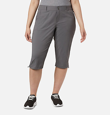 Women's Saturday Trail™ II Knee Pant - Plus Size Saturday Trail™ II Knee Pant | 023 | 16W, City Grey, front
