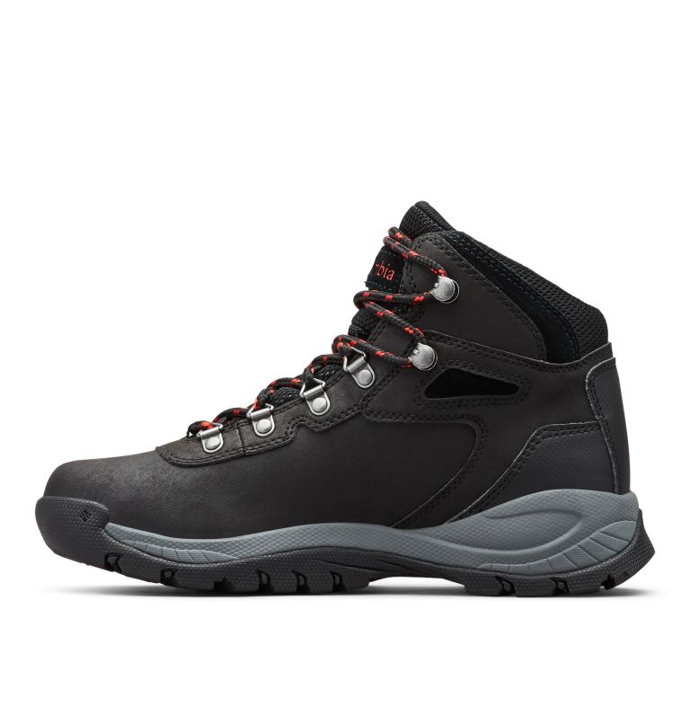 NEWTON RIDGE™ PLUS   010   11 Women's Newton Ridge™ Plus Waterproof Hiking Boot, Black, Poppy Red, medial
