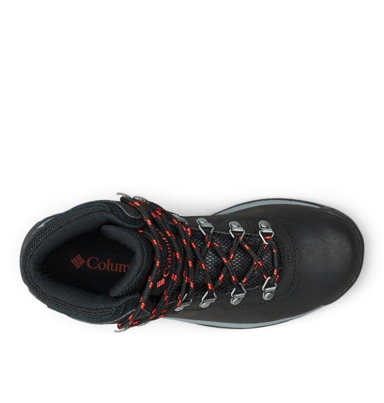 NEWTON RIDGE™ PLUS   010   11 Women's Newton Ridge™ Plus Waterproof Hiking Boot, Black, Poppy Red, top