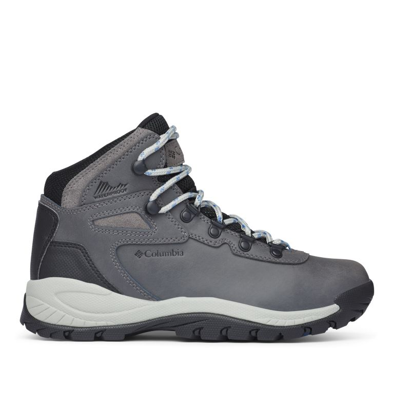 NEWTON RIDGE™ PLUS | 052 | 9 Women's Newton Ridge™ Plus Waterproof Hiking Boot, Quarry, Cool Wave, front