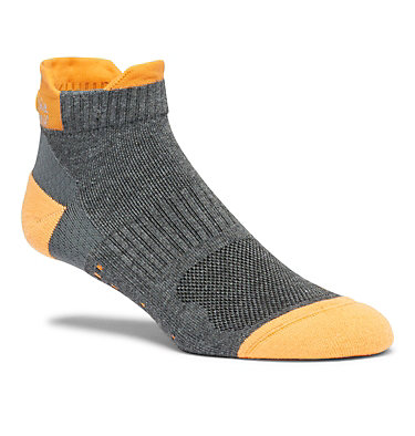Chaussettes légères de Trail Running Unisexe - 1 paire C635 RUN NO SHOW TAB HEELS LIGHT WEIGHT | 263 | S, Charcoal, front