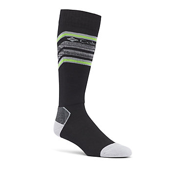 Ski Over The Calf Thermolite Unisex Sock Medium Weight 1-Pack C855 SKI OTC THERMOLITE | 463 | S, Black, front