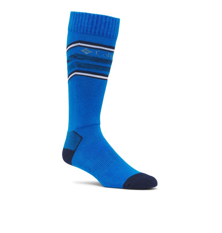 C855 SKI OTC THERMOLITE | 463 | S Ski Over The Calf Thermolite Unisex Sock Medium Weight 1-Pack, Azure, front