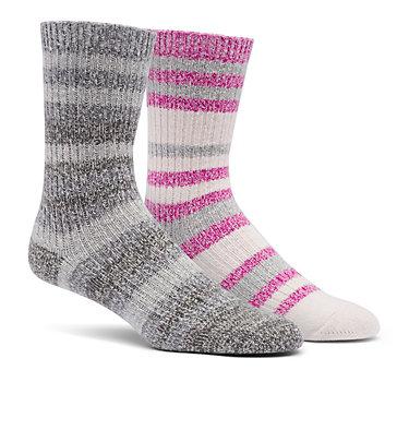 Super Soft Stripe Crew Sock  Medium Weight  2-Pack , front