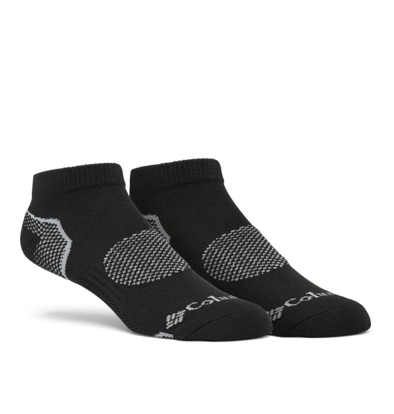 C860 2PP W BALANCE POINT LOW CUT MEDIUM | 010 | S  Balance Point Low Cut Sock Medium Weight 2-Pack, Black, front