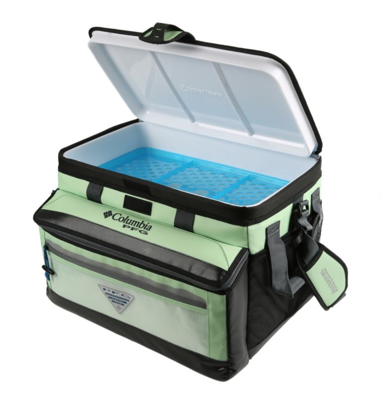 Brewha Zipperless Hardbody The | 388 | O/S PFG Brewha™ Family Size Zipperless Hardbody® Thermal Pack, Napa Green, front