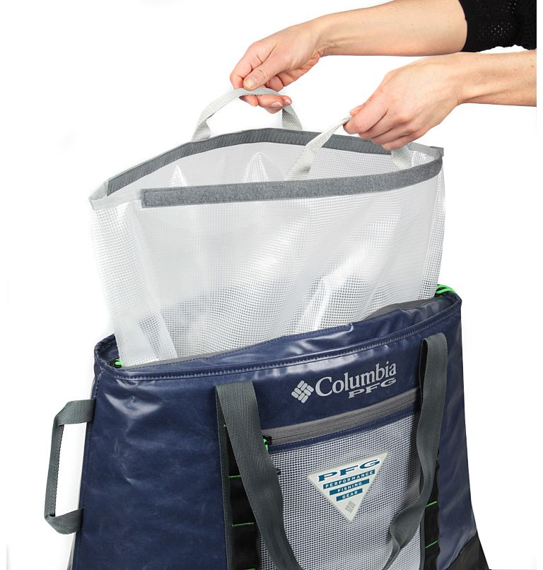 PFG Perfect CastT Ultimate The   464   O/S PFG Perfect Cast™ 45L Thermal Tote, Navy, back