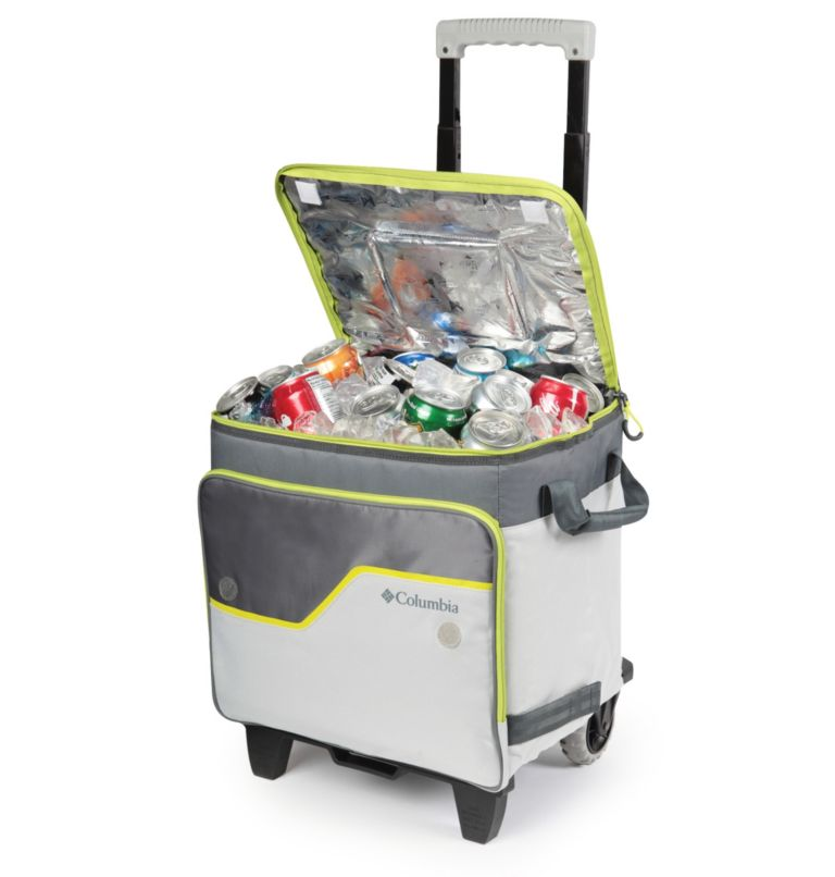 Crater Peak™ Collapsible Cooler | 019 | O/S Crater Peak™ Collapsible Cooler, Gray/Lime, back