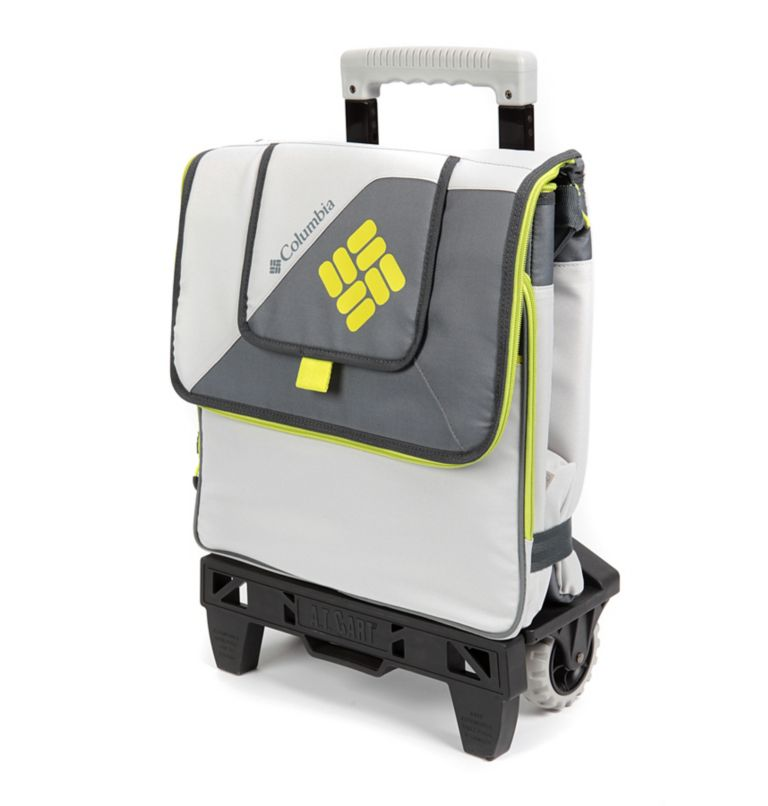 Crater Peak™ Collapsible Cooler | 019 | O/S Crater Peak™ Collapsible Cooler, Gray/Lime, front