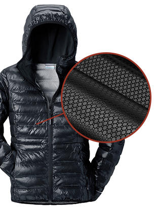 A jacket with Omni-Heat 3D technology.