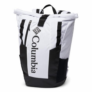 A black and white backpack